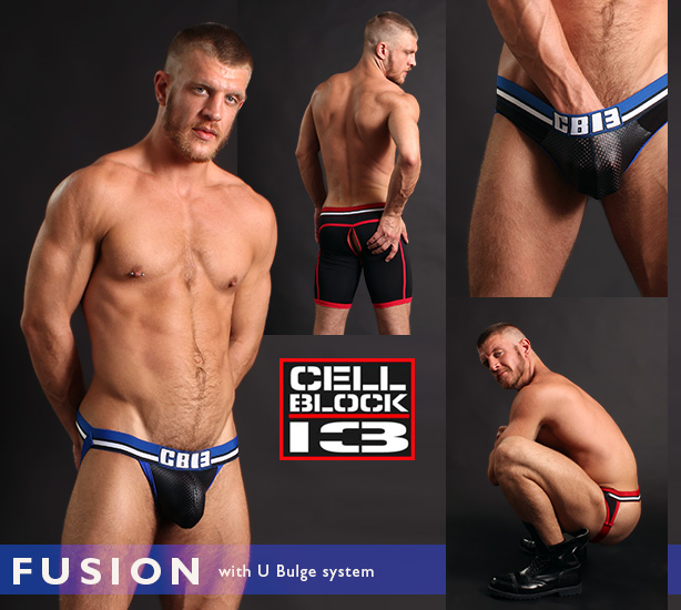 Cellblock 13 Fusion Jocks, Jockbriefs and Shorts with U Bulge Technology